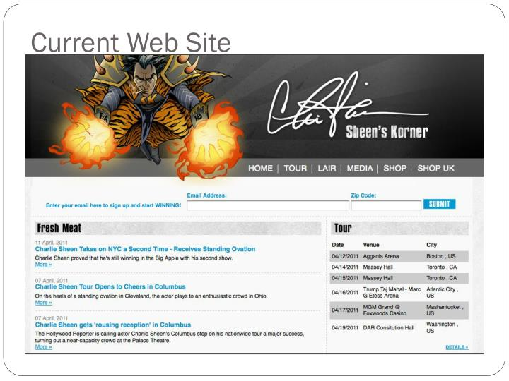 Current Web Site