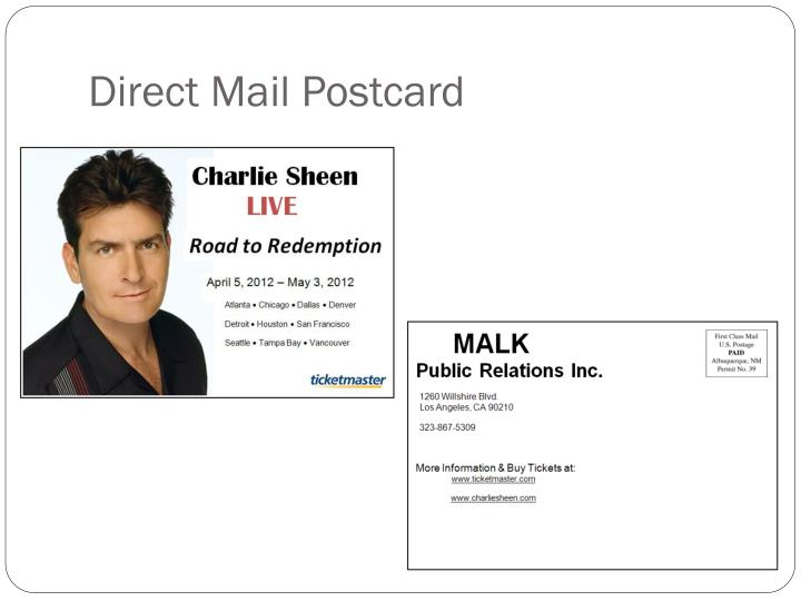 Direct Mail Postcard