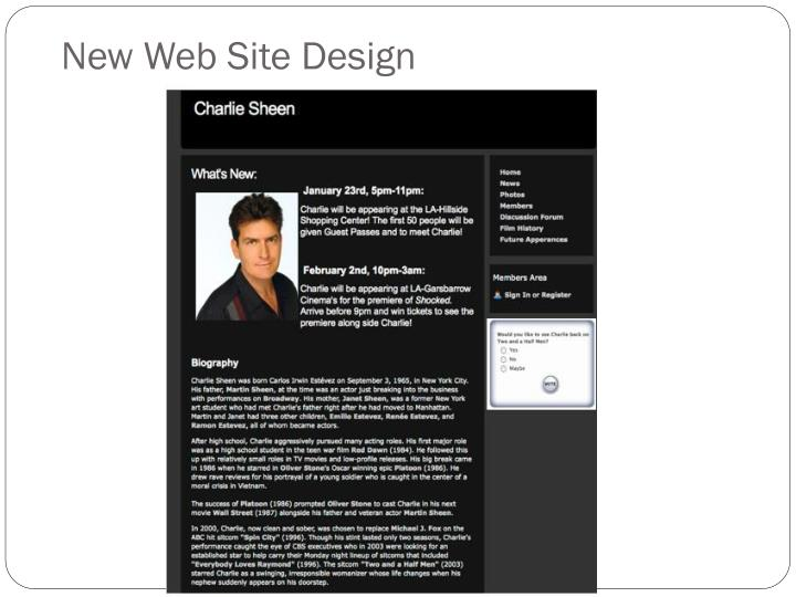 New Web Site Design