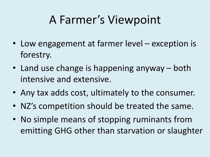 A Farmer's Viewpoint