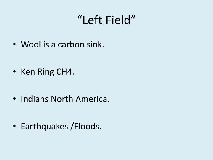"""""""Left Field"""""""