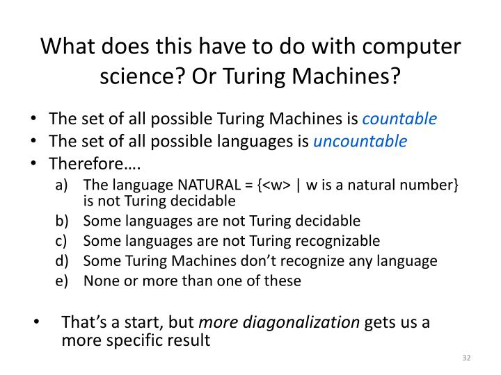 What does this have to do with computer science? Or Turing Machines?