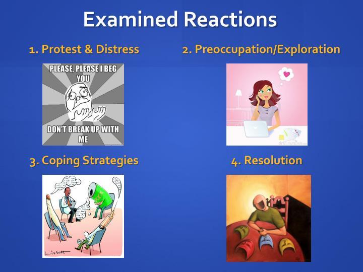 Examined Reactions