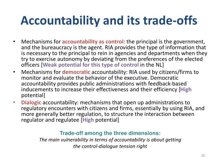 Accountability and its trade-offs