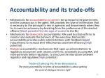 accountability and its trade offs