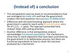 instead of a conclusion