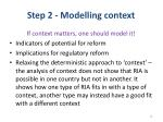 step 2 modelling context