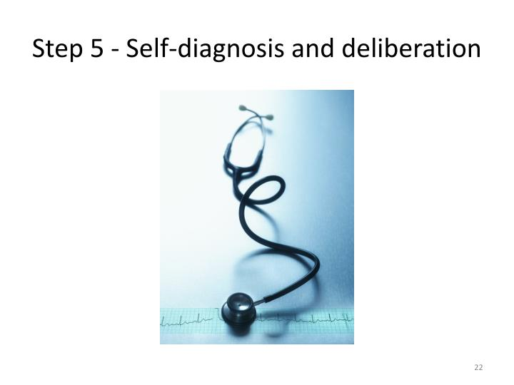 Step 5 - Self-diagnosis and deliberation
