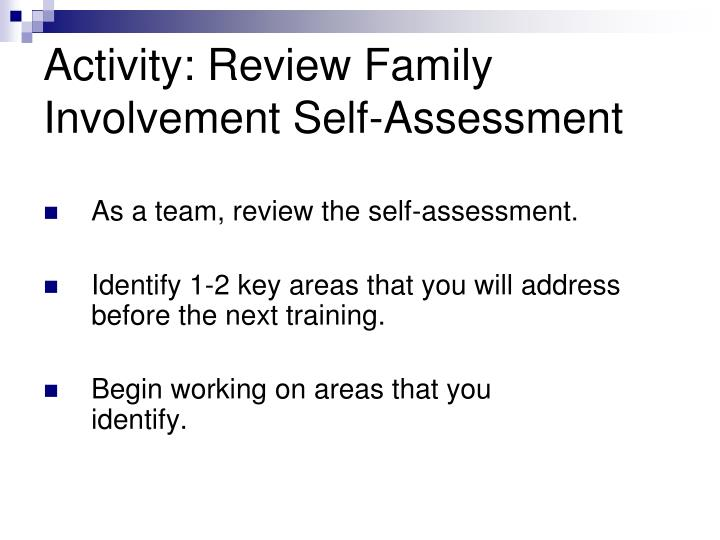 Activity: Review Family