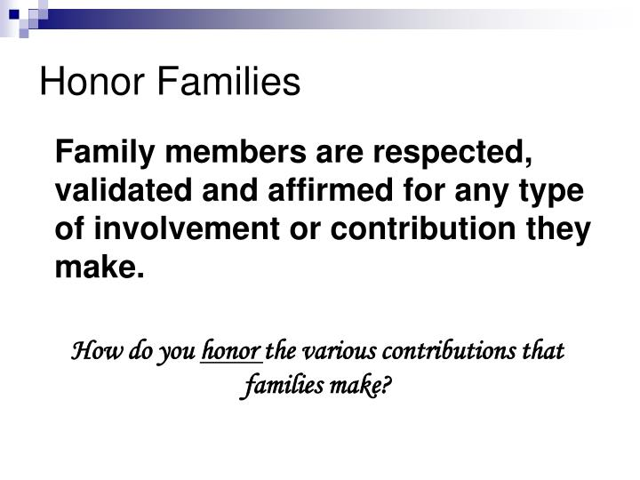 Honor Families
