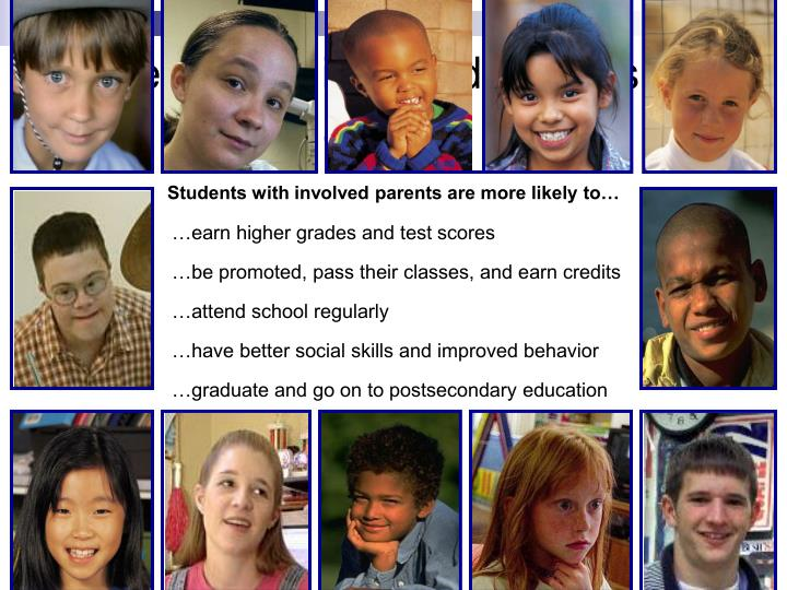 Students with involved parents are more likely to…