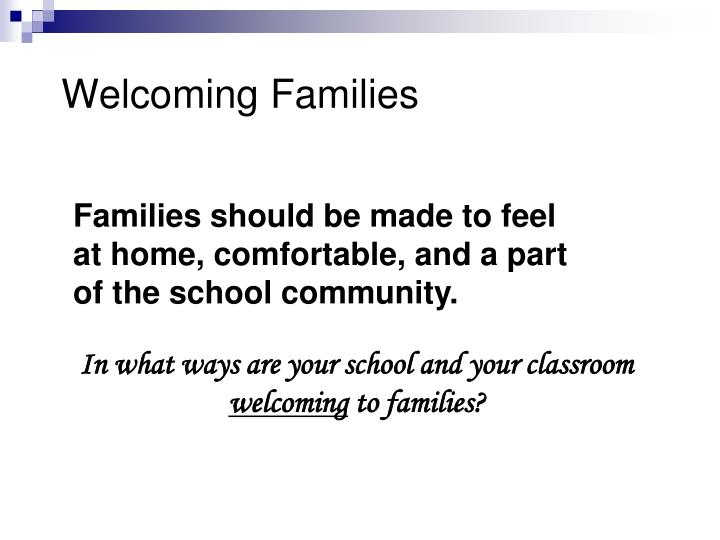 Welcoming Families