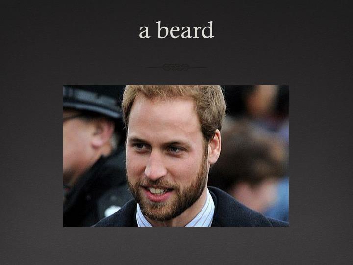 a beard