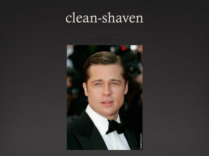 clean-shaven