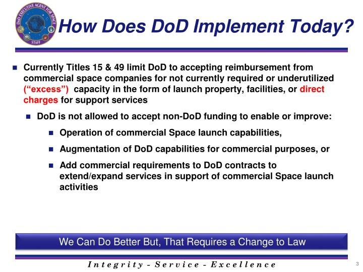 How Does DoD Implement Today?