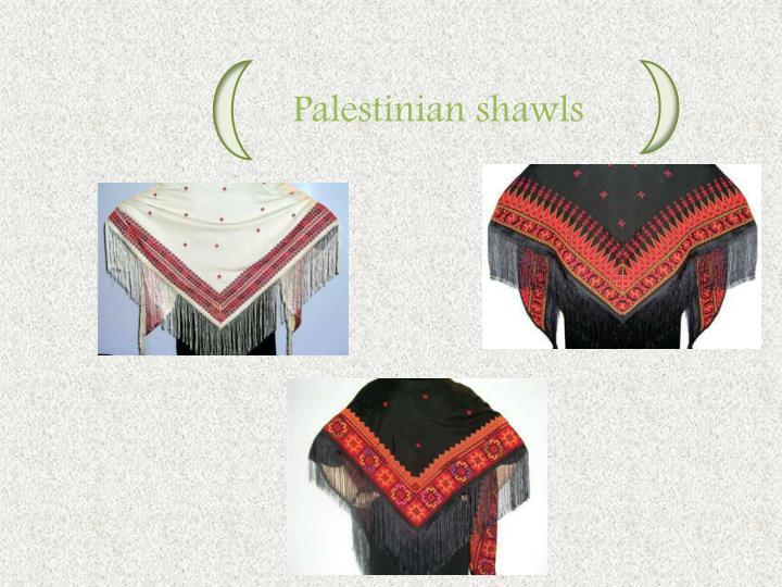 Palestinian shawls