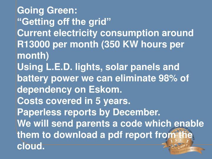 Going Green: