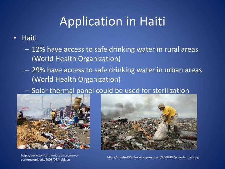 Application in Haiti