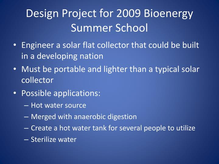 Design Project for 2009