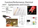 function performance electrical components and circuits