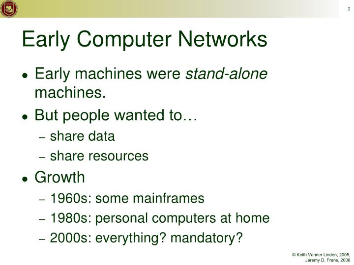 Early computer networks