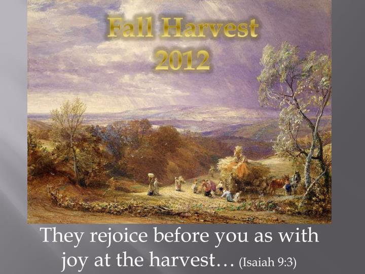 Fall Harvest 2012
