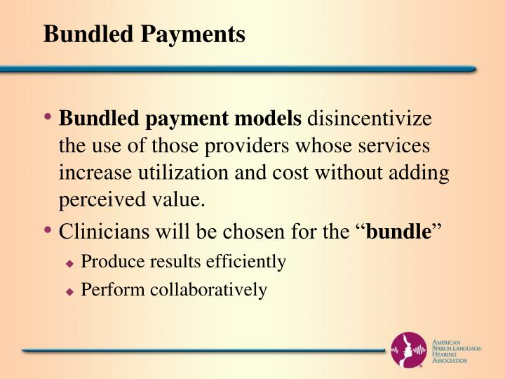 Bundled Payments