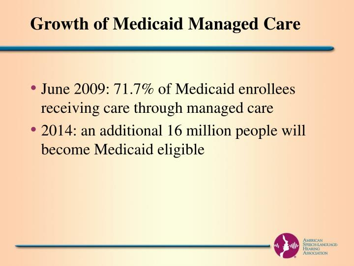 Growth of Medicaid Managed Care