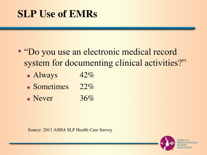 SLP Use of EMRs