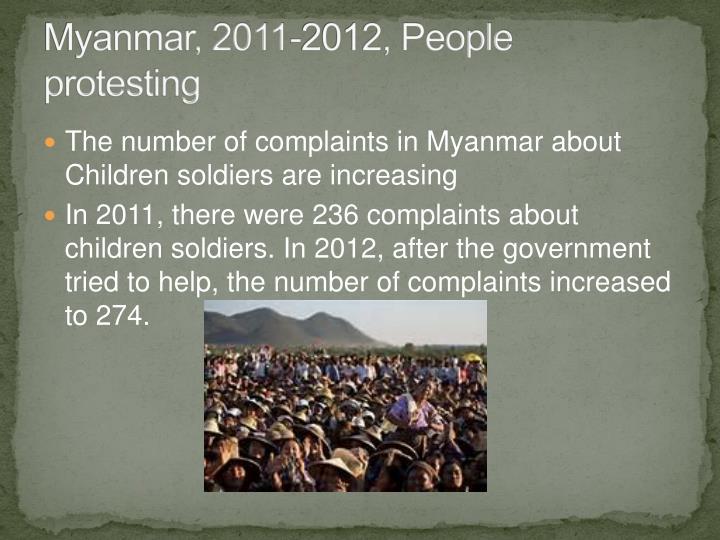 Myanmar, 2011-2012, People protesting