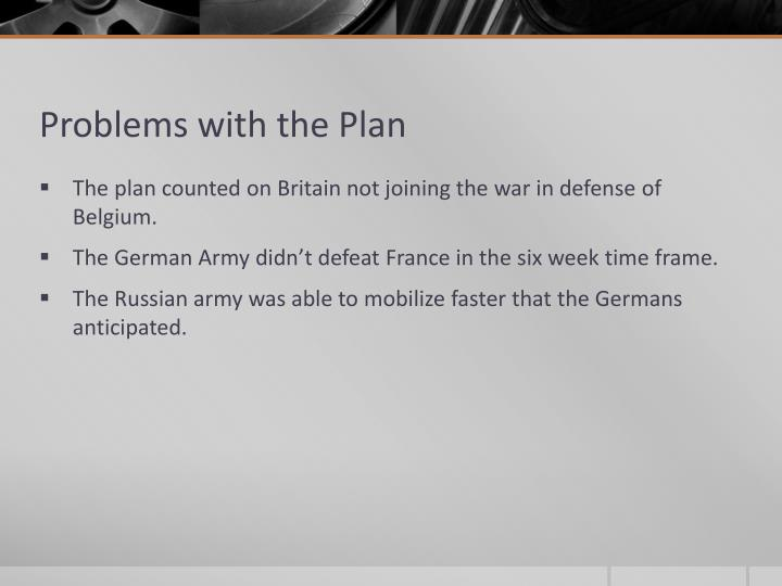 Problems with the Plan