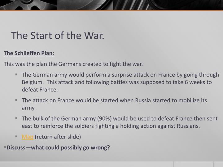 The Start of the War.