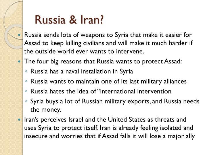 Russia & Iran?