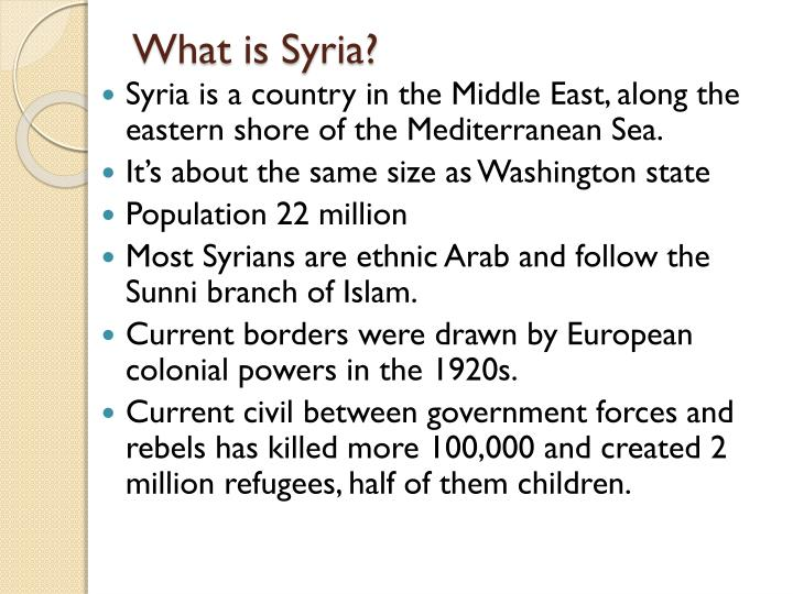 What is Syria?