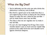 what the big deal1
