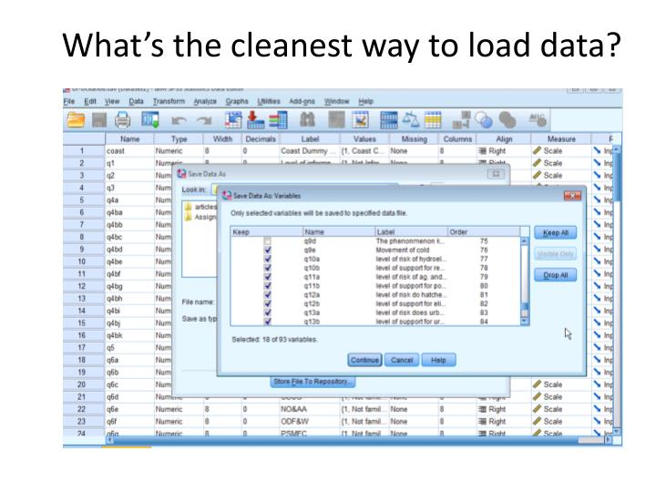 What s the cleanest way to load data
