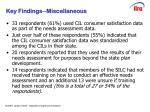 slide 7 key findings miscellaneous