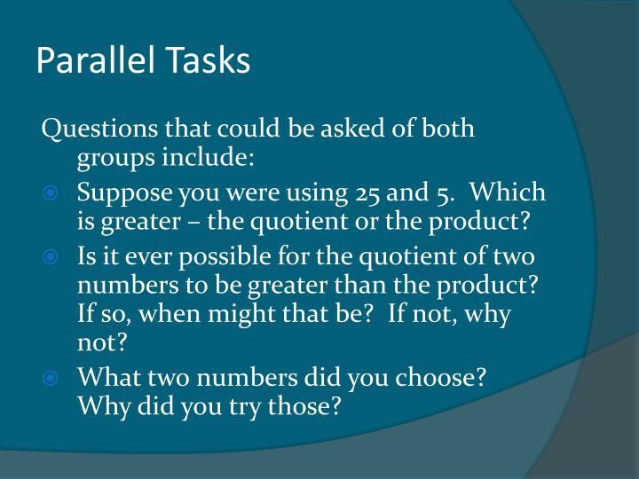 Parallel Tasks