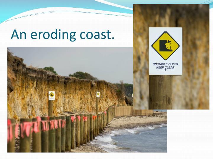 An eroding coast.