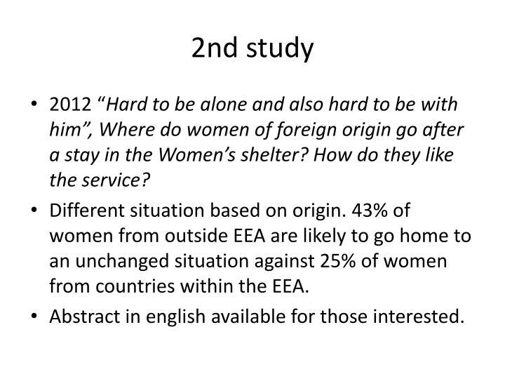 2nd study