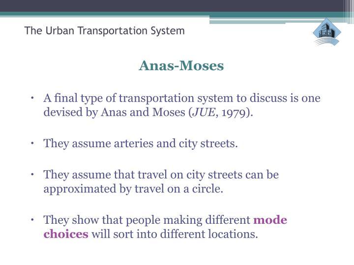The Urban Transportation Syste