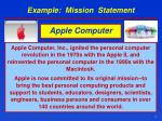example mission statement