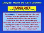 examples mission and vision statements1
