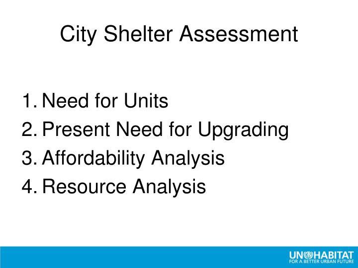 City Shelter Assessment