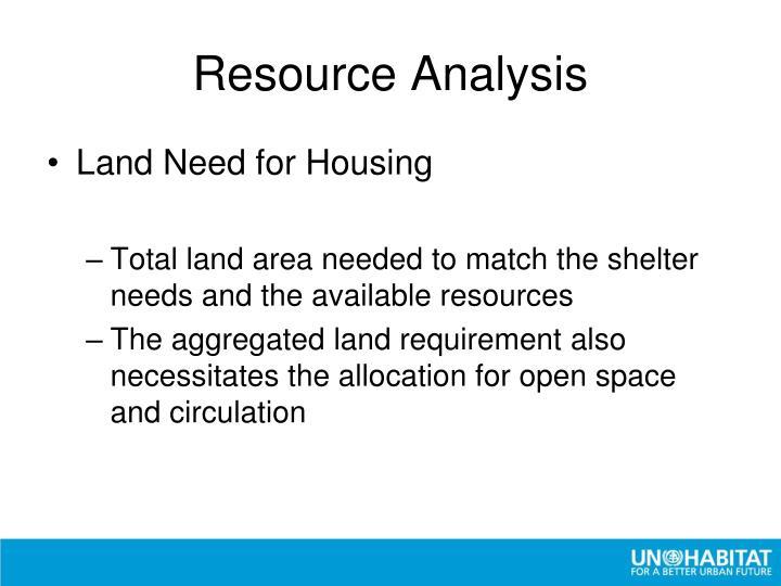 Resource Analysis