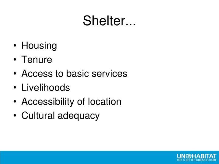 Shelter...