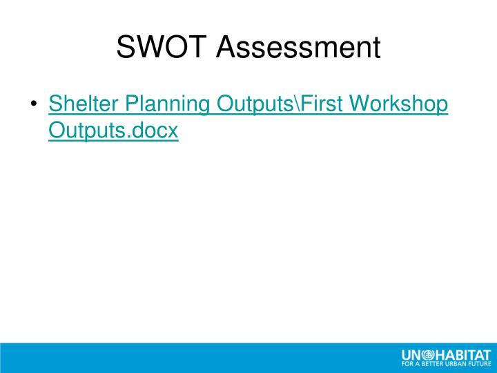 SWOT Assessment