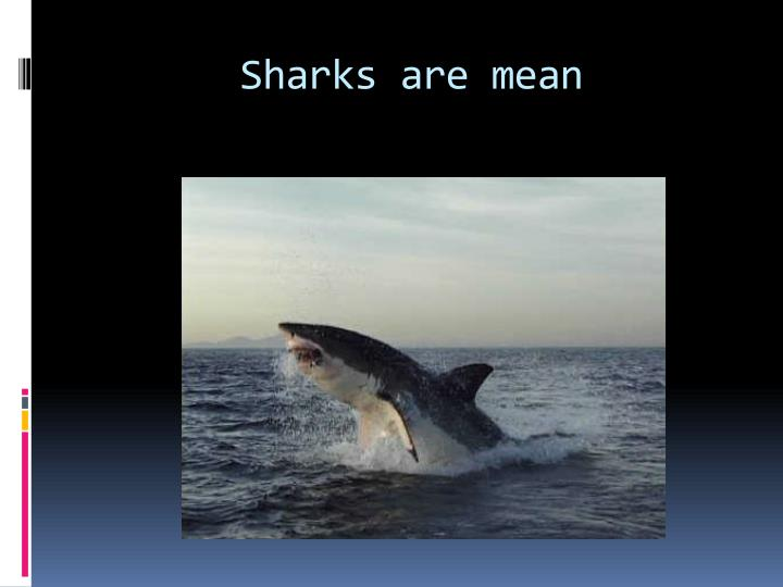 Sharks are mean