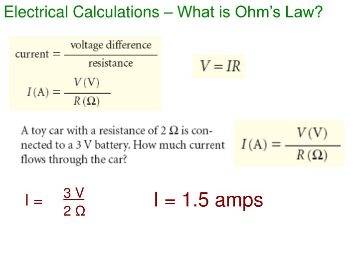 Electrical Calculations – What is Ohm's Law?