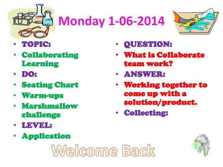 Monday 1-06-2014